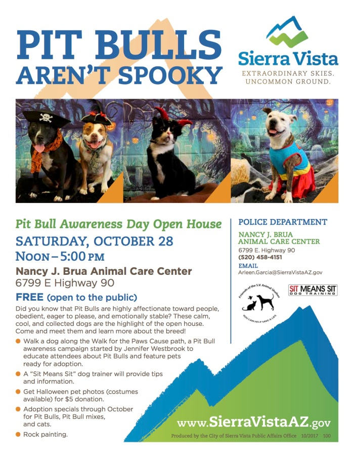 2017 Pit Bulls Arent Spooky ACC Open House Flyer [SFS]