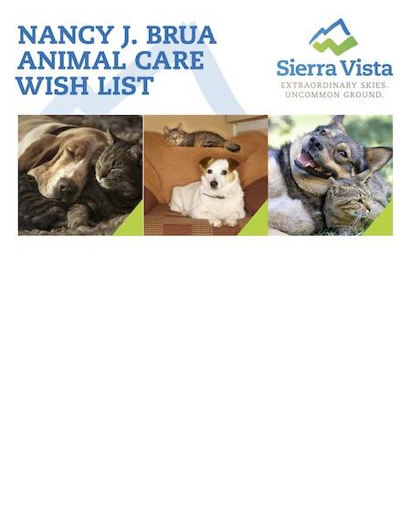 animal shelter wish list 2017 copy
